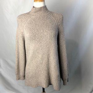 Aeropostale Taupe Fuzzy Mock Neck Sweater